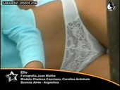 Pampita white lace panties