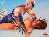 aqua monsters fucking cute girls - Aquaman of the  Carribean