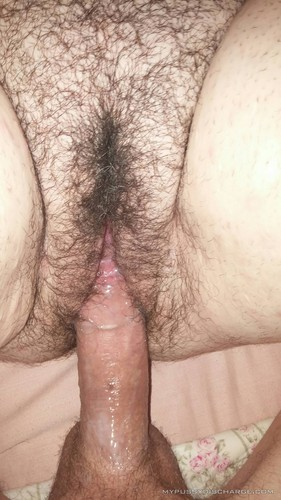 Sex couple creamy hairy pussy