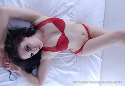 Worn red dirty panties